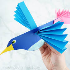 How To Make A Colorful Paper Bird Craft