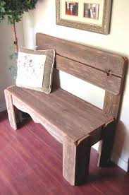 Nice Rustic Bench With Back Reclaimed Wood Charming Furniture Country