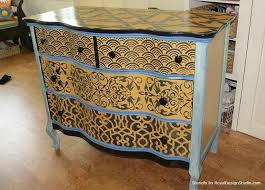 Stencil Pattern Ideas For Dressers And Drawers DresserFurniture StencilHand Painted