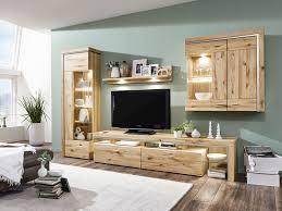 Anbauwand Wohnzimmer Mã Bel Ideal Möbel Wohnwand Bruni Kombi 03 In Atteiche Teilmassiv 4