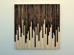 Home Design Rustic Wood And Metal Wall Art Style Large