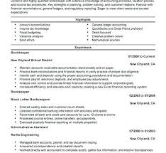 Resume Bullet Points Examples Bunch Ideas Of Amusing Sample Bookkeeping Cool 8