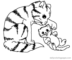 Wonderful Cat Animal Coloring Pages Cute 003 Free