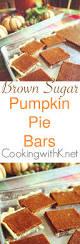 Pumpkin Pie Evaporated Milk Brown Sugar by Cooking With K Brown Sugar Pumpkin Pie Bars