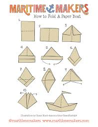 Maritime Makers How To Fold A Paper Boat Printable Instructions By Susan Black Design