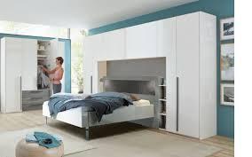 überbauschlafzimmer 4010 in lack bianco weiß hochglanz
