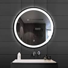 djz runder spiegel badezimmer hd spiegel mit led