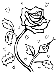 Coloring Page Pages Rose Free Printable Roses For Kids To Print Garden