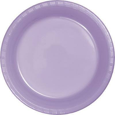 Creative Converting Plastic Lunch Plates - Lavender, 20ct, 17.8cm
