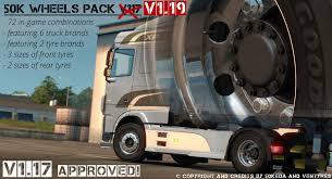 100 Truck Brands 50K WHEELS PACK 117 119 ETS2 Mods Euro Truck Simulator 2