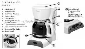 Mr Coffee DRTX84 Parts List And Diagram EReplacementParts