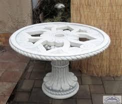 bad 1040 betonmöbel glastisch gartentisch tischplatte mit glasplatte massiver esszimmer tisch 120cm höhe 77cm