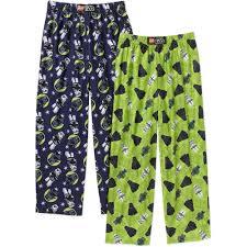 Star Wars Room Decor Walmart by Boys U0027 Licensed Glow In The Dark 4 Piece Cotton Pajama Sleepwear