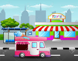 Vector Illustration Of Ice Cream Truck In Front Of The Toy Shop ... Eco Friendly Fold My Car Cboard Ice Cream Truck Toy Shopkins Scoops Playset Bourne Toys 2018 Alloy Model Truckflashing Light Sounding Food Playhouse Little Tikes Mega Bloks Despicable Me Minions Amazoncouk Playmobil Jouets Choo Crocodile Creek Mini Vehicle Puzzle The Animal Kingdom Lego Juniors Emmas 10727 Shop For Toys Instore N Scale Ikes Trainlifecom 3d Model Cgstudio Ice Cream Truck Toys Ben10 Net New Pull Back Action Van Diecast Plastic
