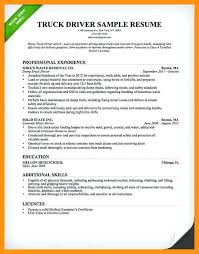 Trucking Resume Sample Truck Driver Examples Dispatcher