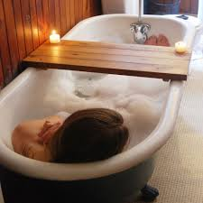 Teak Bath Caddy Australia by Bathtub Caddy
