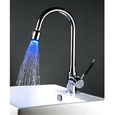 solid brass pullout kitchen faucet with color changing led light