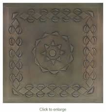 set of 2 12 inch tin ceiling tiles mexican embossed tin style c