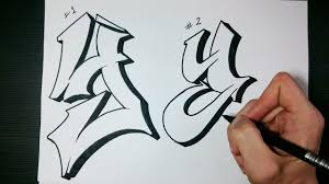 100 Grafitti Y How To Draw Graffiti Letter On Paper OuTube