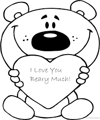 Valentines Day Free Coloring Page Printable