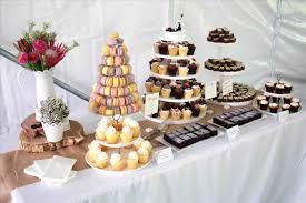 Chic Vintage Sweets Ruffled Cake Burlap Shabby Wedding Dessert Table Outdoor