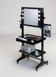 Furniture Unique Makeup Vanity Set Featuring High Hutch With