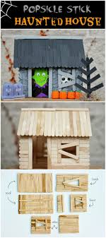 How To Make A Popsicle Stick Haunted House Diy Craft Halloween Crafts Tutorials Decorations Decor