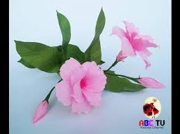 How To Make Hibiscus Flower From Crepe Paper