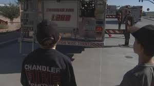 100 Loves Truck Stop Chandler Az 10yearold Fighting Cancer Becomes Firefighter For The Day