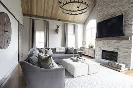 Houzz Fireplace Family Room Transitional With Recessed Lighting Farmhouse Wall Clocks