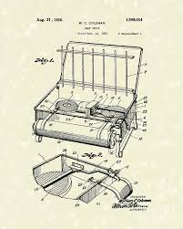Camp Stove 1926 Patent Art Drawing By Prior Design