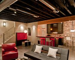 fun unfinished basement ceiling ideas bedroom delectable