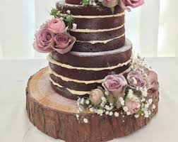 Gorgeous 15 Rustic Log Slice X 3 Thick Ideal For Wooden Wedding Cake