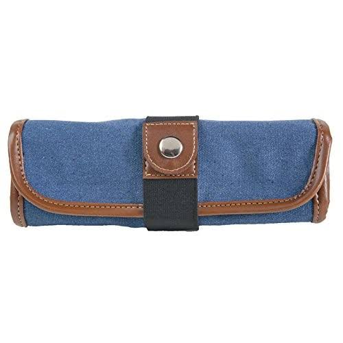 Global Art Material Gl354360 Canvas Pencil Roll up Case - Denim
