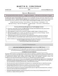 Resume Samples For Sales Manager