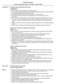 Download Event Marketing Manager Resume Sample As Image File