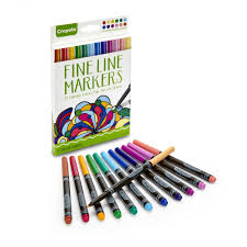 Crayola Bathtub Crayons 18 Vibrant Colors by Crayola Coloring U0026nbsp Fine Line Markers 12 Count U0026nbsp