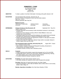Study Abroad On Resume Example Resume3