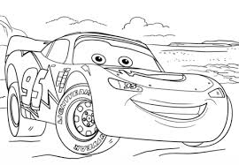 Click To See Printable Version Of Lightning McQueen From Cars 3 Coloring Page