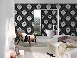 livingwalls tapete barock floral schwarz weiß 554314