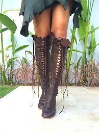 leather boots u2013 madagascar chocolate knee high boots gipsy dharma