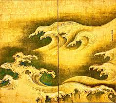 Rough Waves Ogata Korin Japanese Byobu