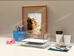 accessoire rangement bureau papeterie boîte de tiroir de rangement acrylique maison bureau