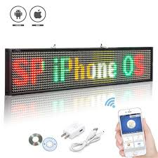 P5 SMD Led Wireless Open Sign Programmable Scrolling Message Multicolor LED Display Board For Shop Window