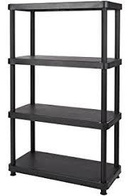 Keter Storage Shed Shelves by Amazon Com Keter 5 Shelf Heavy Duty Utility Plastic Freestanding