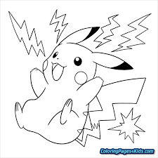 Pokemon Pikachu Coloring Page Pages For Kids
