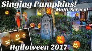 Singing Pumpkins Grim Grinning Pumpkins Projector by Halloween Projection Pumpkins 2017 Youtube Downloader Free