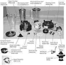 Hamilton Beach HBB908 CE Parts List And Diagram