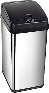 display4top abfalleimer mit sensor mülleimer küche toilette badezimmer geruchssicherer abfalleimer in edelstahl optik 38l
