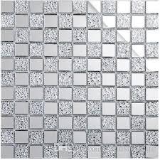 Mirror Tiles 12x12 Cheap by Shiny Glass Mosaic Tiles 12x12 Home Decor Tiles Silver White